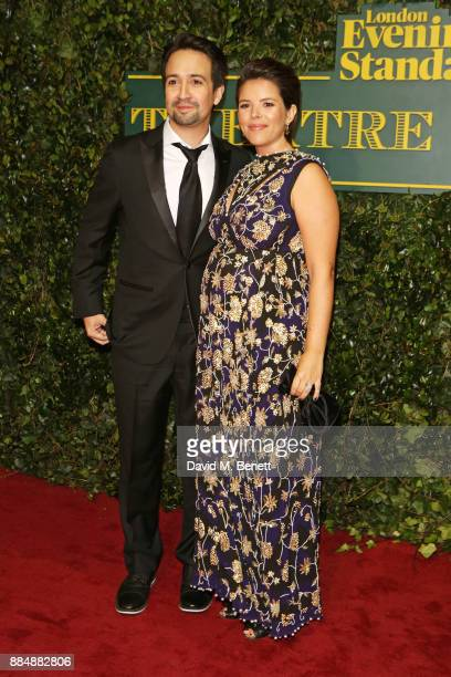 LinManuel Miranda and Vanessa Nadal attend the London Evening Standard Theatre Awards 2017 at the Theatre Royal Drury Lane on December 3 2017 in...