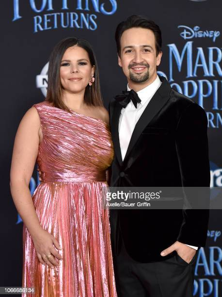 LinManuel Miranda and Vanessa Nadal attend the premiere of Disney's 'Mary Poppins Returns' at El Capitan Theatre on November 29 2018 in Los Angeles...
