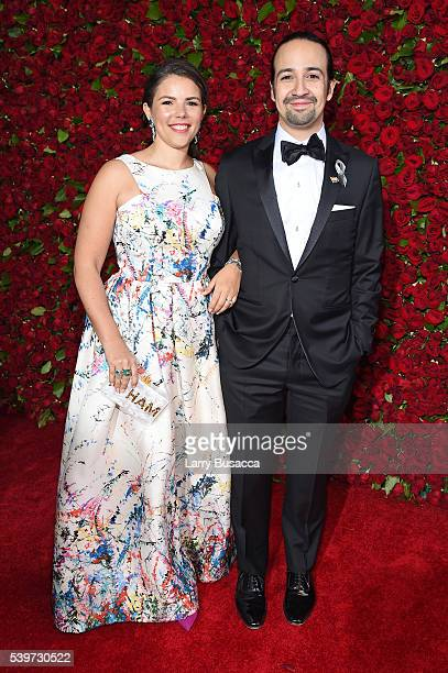 LinManuel Miranda and Vanessa Nadal attends 70th Annual Tony Awards Arrivals at Beacon Theatre on June 12 2016 in New York City