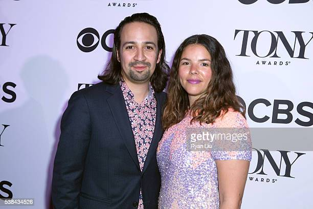 LinManuel Miranda and wife Vanessa Nadal attend the 2016 Tony Honors cocktail party at The Diamond Horseshoe on June 6 2016 in New York City