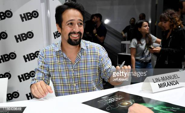 "Lin-Manuel Miranda at ""His Dark Materials"" Comic Con Autograph Signing 2019 at the 50th San Diego Comic Con International Convention at the San Diego..."