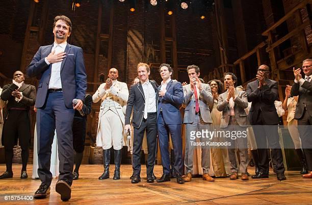 Lin-Manuel Miranda at the opening night of Hamilton at PrivateBank Theatre on October 19, 2016 in Chicago, Illinois.