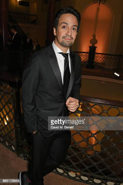 LinManuel Miranda attends a drinks reception ahead of the London Evening Standard Theatre Awards 2017 at the Theatre Royal Drury Lane on December 3...