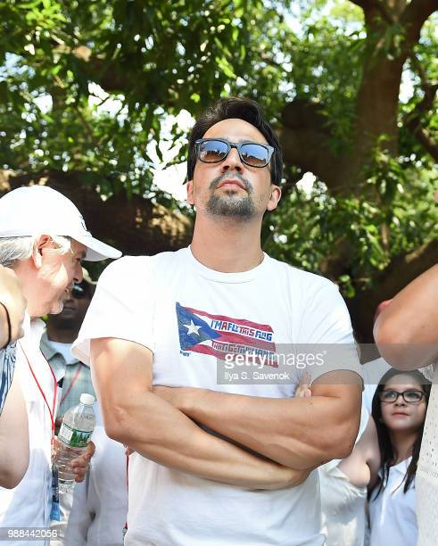 LinManuel Miranda attends Families Belong Together Rally In Washington DC Sponsored By MoveOn National Domestic Workers Alliance And Hundreds Of...