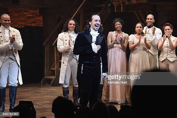 LinManuel Miranda attends his final performance of Hamilton on Broadway at Richard Rodgers Theatre on July 9 2016 in New York City