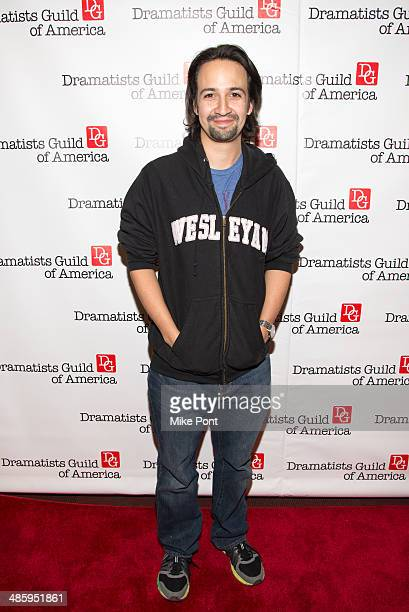 LinManuel Miranda attends the 2014 AntiPiracy Awareness event at The Dramatists Guild of America on April 21 2014 in New York City