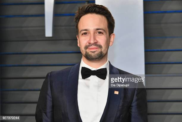 LinManuel Miranda attends the 2018 Vanity Fair Oscar Party hosted by Radhika Jones at Wallis Annenberg Center for the Performing Arts on March 4 2018...