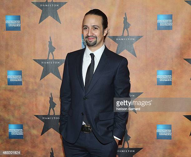 LinManuel Miranda attends the 'Hamilton' Broadway Opening Night at Pier 60 on August 6 2015 in New York City