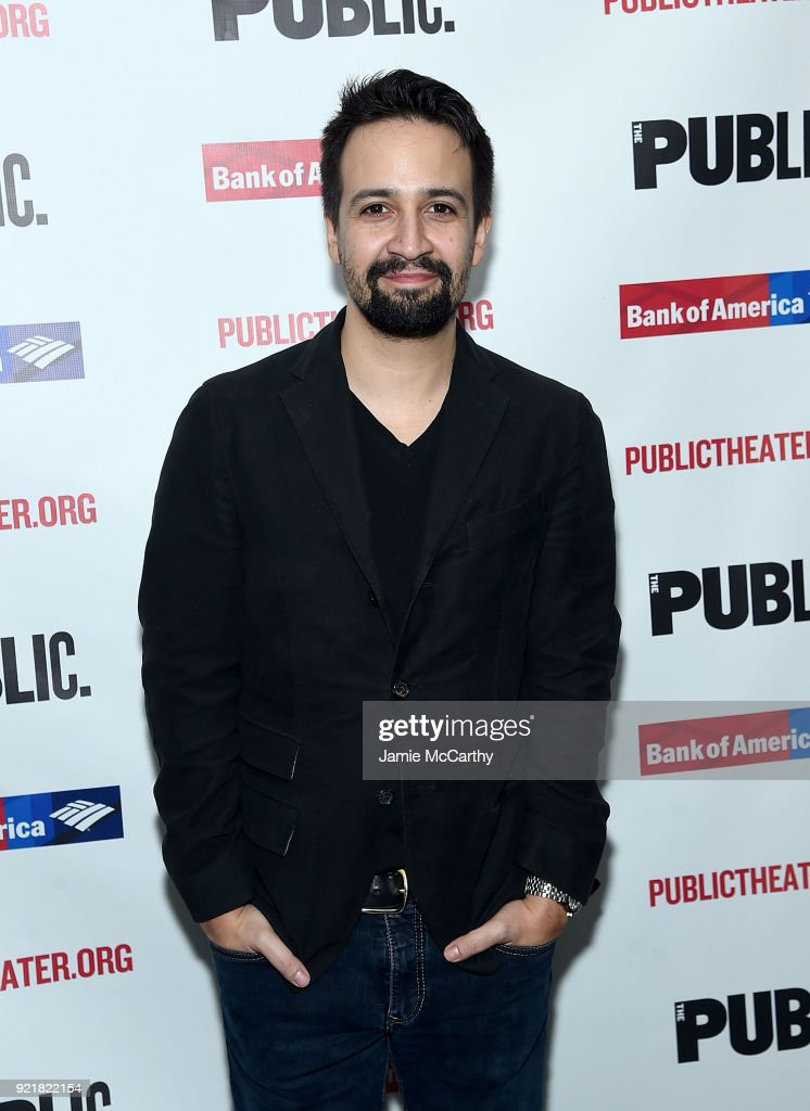 Lin-Manuel Miranda attends the 'Kings' Opening Night at The Public Theater on February 20, 2018 in New York City.