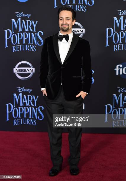 LinManuel Miranda attends the premiere of Disney's 'Mary Poppins Returns' at El Capitan Theatre on November 29 2018 in Los Angeles California