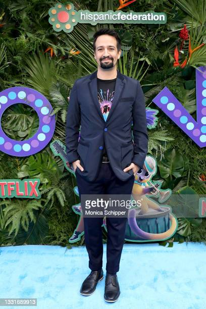 Lin-Manuel Miranda attends the Vivo Special Screening at Village East by Angelika on July 31, 2021 in New York City.