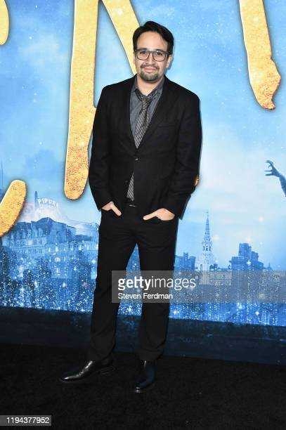 """Lin-Manuel Miranda attends the world premiere of """"Cats"""" at Alice Tully Hall, Lincoln Center on December 16, 2019 in New York City."""