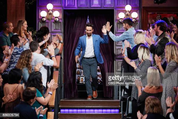 LinManuel Miranda greets the audience during 'The Late Late Show with James Corden' Tuesday August 15 2017 On The CBS Television Network