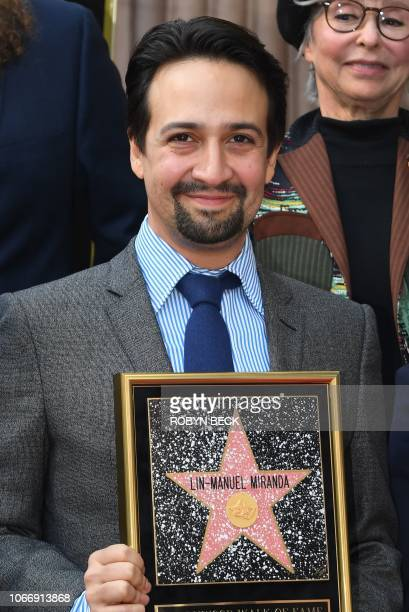 Lin-Manuel Miranda is honored with a star on the Hollywood Walk of Fame, November 30, 2018 in Hollywood, California.
