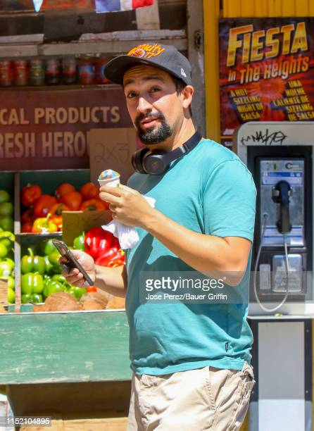 LinManuel Miranda is seen on the set of 'In the Heights' on June 26 2019 in New York City