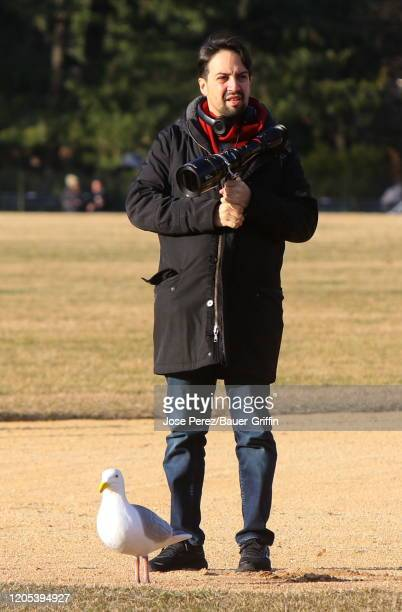 LinManuel Miranda is seen on the set of Tick Tick Boom on March 05 2020 in New York City