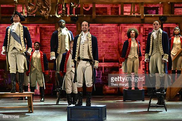 Lin-Manuel Miranda of 'Hamilton' performs onstage during the 70th Annual Tony Awards at The Beacon Theatre on June 12, 2016 in New York City.