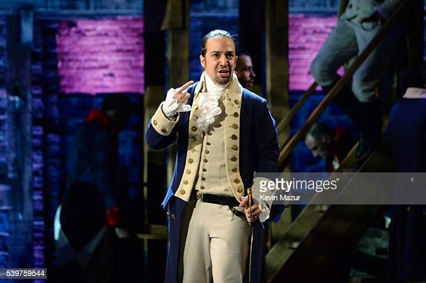 LinManuel Miranda of 'Hamilton' performs onstage during the 70th Annual Tony Awards at The Beacon Theatre on June 12 2016 in New York City