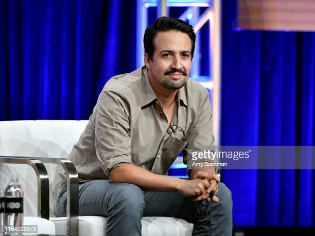 LinManuel Miranda of 'His Dark Materials' speaks during the HBO segment of the Summer 2019 Television Critics Association Press Tour 2019 at The...