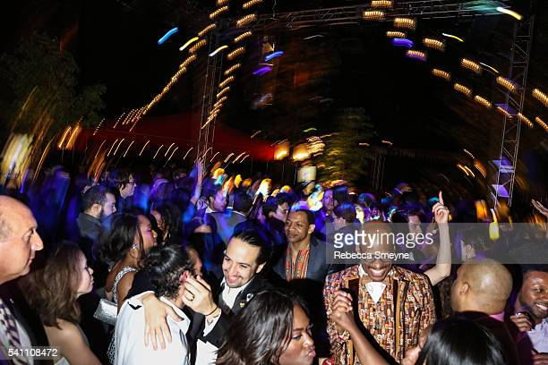 LinManuel Miranda on the dancefloor at the Hamilton afterparty for the Tony Awards at Tavern on the Green in New York NY on June 13 2016