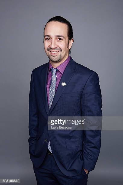 LinManuel Miranda poses for a portrait at the 2016 Tony Awards Meet The Nominees Press Reception on May 4 2016 in New York City
