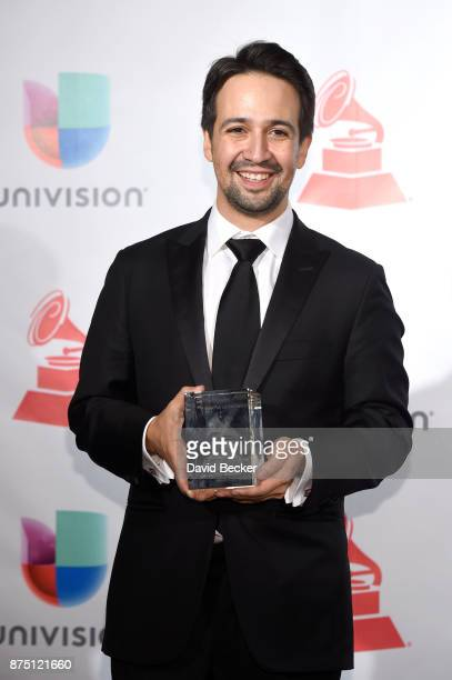 LinManuel Miranda poses in the press room during The 18th Annual Latin Grammy Awards at MGM Grand Garden Arena on November 16 2017 in Las Vegas Nevada