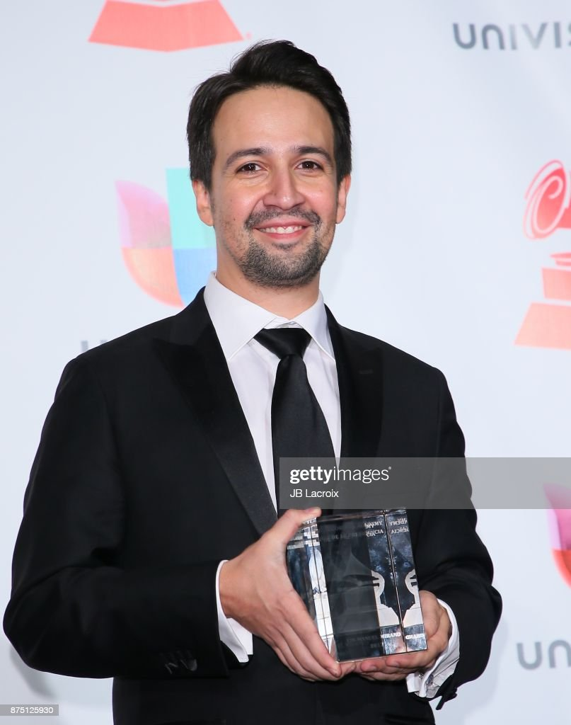 Lin-Manuel Miranda poses in the press room during The 18th Annual Latin Grammy Awards at MGM Grand Garden Arena on November 16, 2017 in Las Vegas, Nevada.