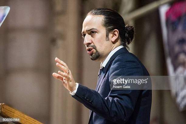 LinManuel Miranda speaks at the 2016 MLK Now at Riverside Church on January 18 2016 in New York City