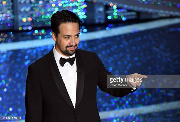 LinManuel Miranda speaks onstage during the 92nd Annual Academy Awards at Dolby Theatre on February 09 2020 in Hollywood California