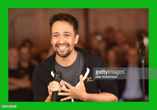 LinManuel Miranda speaks onstage during the #Ham4Ham featuring LinManuel Miranda at the Pantages Theatre on August 16 2017 in Hollywood California