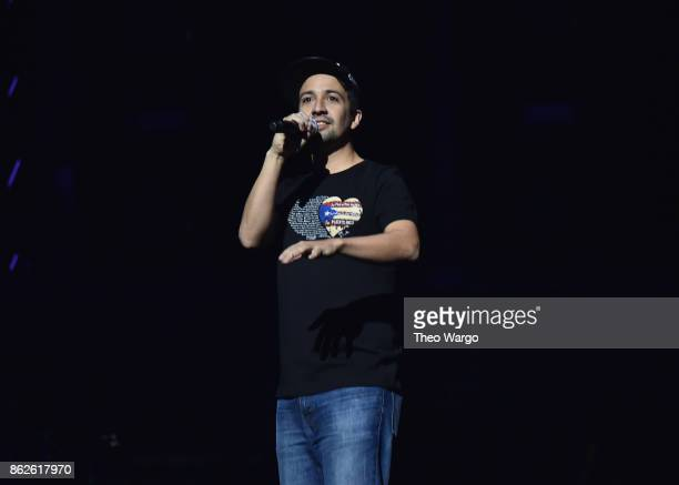 LinManuel Miranda speaks onstage during TIDAL X Brooklyn at Barclays Center of Brooklyn on October 17 2017 in New York City