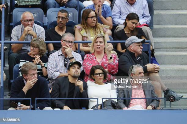 LinManuel Miranda watches the Men's Singles finals match between Kevin Anderson of South Africa and Rafael Nadal of Spain on Day Fourteen of the 2017...