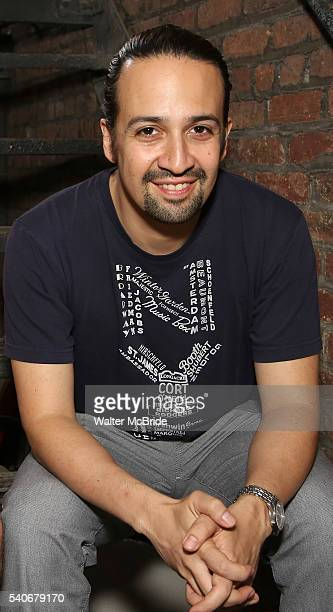 Lin-Manuel Miranda who plays the title character in the Tony Award winning musical 'Hamilton' at the Richard Rodgers Theater on June 16, 2016 in New...