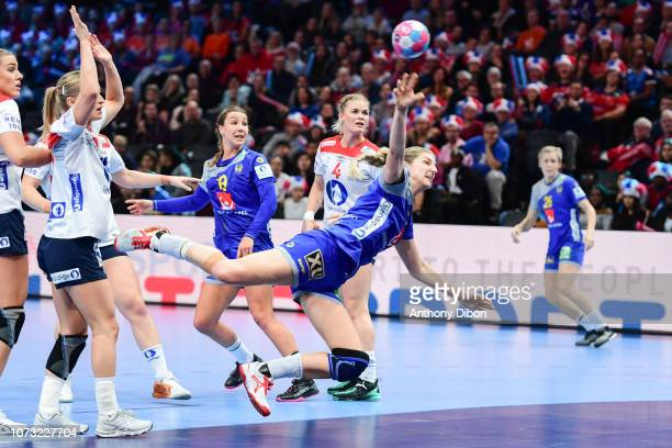 Linn Blohm of Sweden during the EHF Euro match between Sweden and Norway on December 14 2018 in Paris France