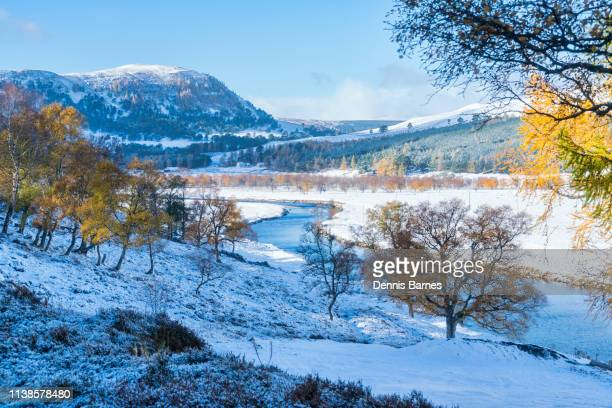 linn of dee, braemar, snow, mountains, high;and, scotland, uk - aberdeenshire stock pictures, royalty-free photos & images