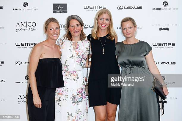 Linn Rieso Julia Rau Laura Schreier and Wiebke Schillberg attend the Platform Fashion Selected show during Platform Fashion July 2016 at Areal...