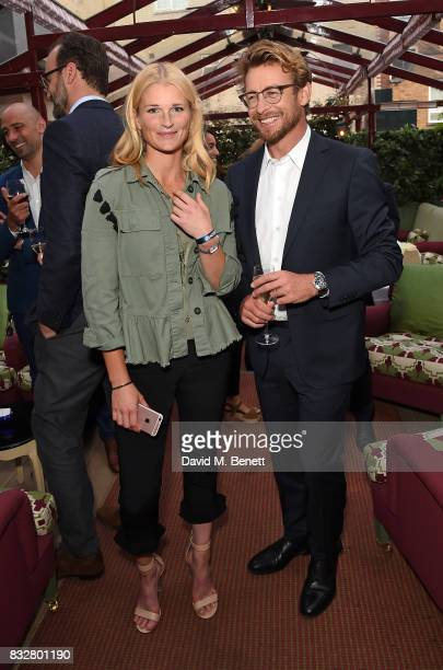 Linnea Aarflot and Simon Baker attend a VIP Dinner with Longines and Simon Baker to celebrate the Commonwealth Baton arriving in London at Marks Club...