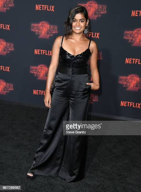 Linnea Berthelsen arrives at the Premiere Of Netflix's 'Stranger Things' Season 2 at Regency Bruin Theatre on October 26 2017 in Los Angeles...