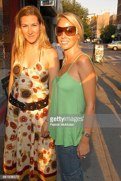 Linnea Olson and Anna Nadine attend Foley Corinna Store Opening Party at Foley Corinna Store on June 8 2005