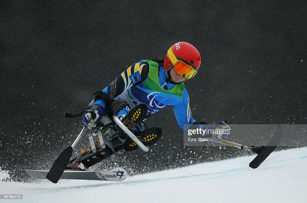 Linnea Ottosson Eide of Sweden competes in the Women's Visuall Impaired Giant Slalom during Day 5 of the 2010 Vancouver Winter Paralympics at Whistler Creekside on March 16, 2010 in Whistler, Canada.