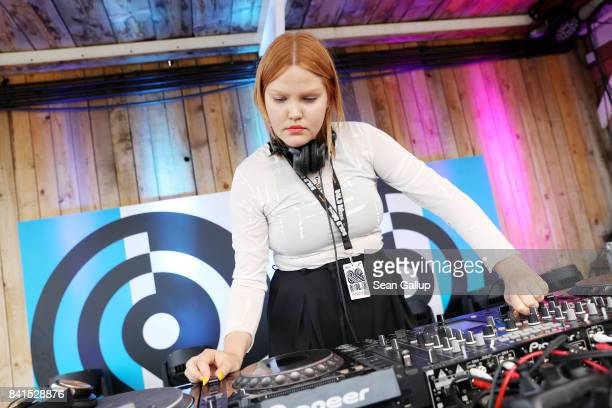 Linnea performs during the Bread & Butter by Zalando 2017 at Badeschiff, arena Berlin on September 1, 2017 in Berlin, Germany.