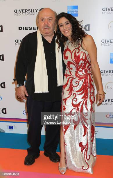 Lino Banfi and Francesca Vecchioni attend Diversity Media Awards Charity Gala Dinner on May 29 2017 in Milan Italy