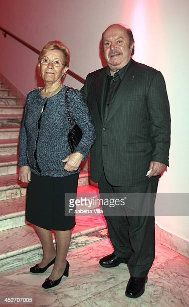 Lino Banfi and wife Lucia Zagaria attend The Children For Peace Benefit Gala Ceremony at Spazio Novecento on November 30, 2013 in Rome, Italy.