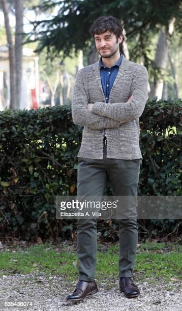 Lino Guanciale attends a photocall for 'La Porta Rossa' fiction Rai at Villa Borghese on February 15 2017 in Rome Italy