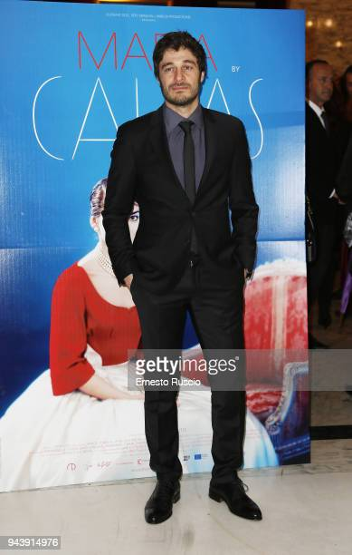 Lino Guanciale attends 'Maria by Callas In Her Own Words' preview at Teatro Dell' Opera Di Roma on April 9 2018 in Rome Italy