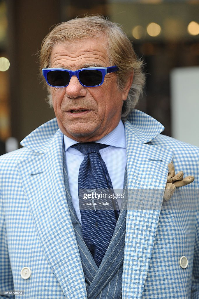 Lino Ieluzzi is seen during Pitti Immagine Uomo 85 on January 8, 2014 in Florence, Italy.