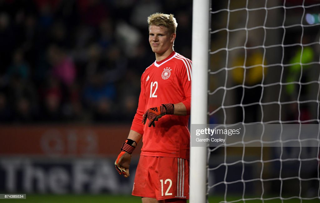 Lino Kasten of Germany during the International Match between England U17 and Germany U17 at The New York Stadium on November 14, 2017 in Rotherham, England.