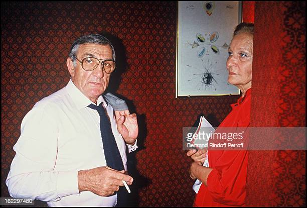 Lino Ventura and his wife Odette at Exces contraire Dress Rehearsal 1987