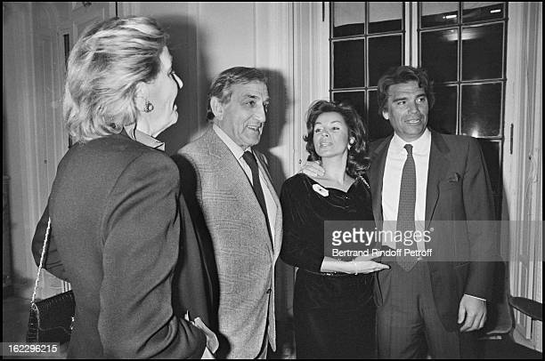 Lino Ventura and his wife Odette Bernard Tapie and his wife Dominique