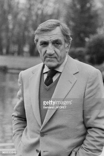 Lino Ventura au festival du film policier de Cognac le 17 avril 1983 France
